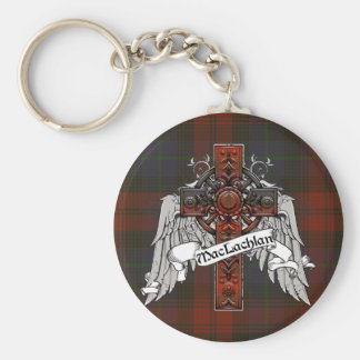 MacLachlan Tartan Cross Key Ring