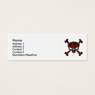 MacLachlan Tartan Skull No Banner Mini Business Card