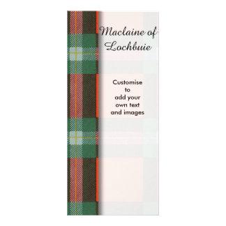 Maclaine of Lochbuie clan Plaid Scottish tartan Rack Cards