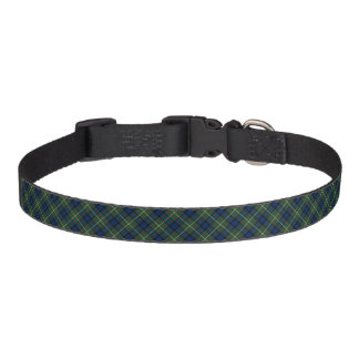 MacLaren Clan Blue and Green Scottish Tartan Pet Collar