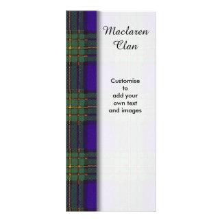 Maclaren clan Plaid Scottish tartan Full Color Rack Card