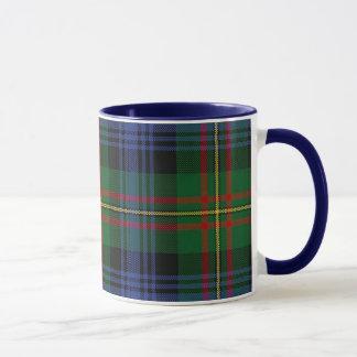 MacLaren Plaid Mug, Blue Handle Mug