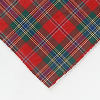 MacLean Clan Red, Green, and Blue Tartan Fleece Blanket