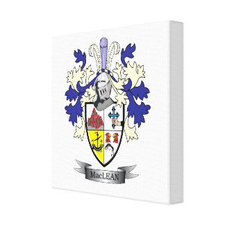 MacLean Family Crest Coat of Arms Canvas Print