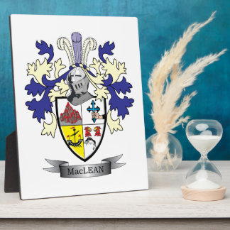 MacLean Family Crest Coat of Arms Plaque