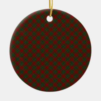 MacLean / McLean Clan Tartan Designed Print Ceramic Ornament