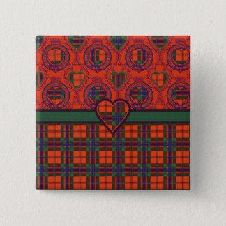 Maclean of Duart Plaid Scottish tartan 15 Cm Square Badge