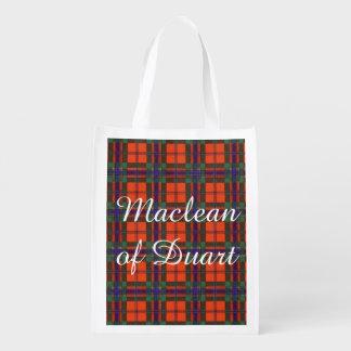 Maclean of Duart Plaid Scottish tartan Grocery Bags