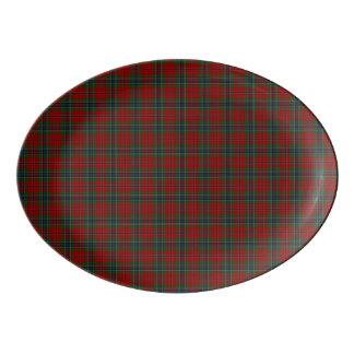 Maclean Tartan Scottish Modern MacLean of Duart Porcelain Serving Platter
