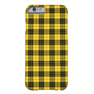 MacLeod Clan Bright Yellow and Black Tartan Barely There iPhone 6 Case