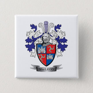 MacLeod Family Crest Coat of Arms 15 Cm Square Badge