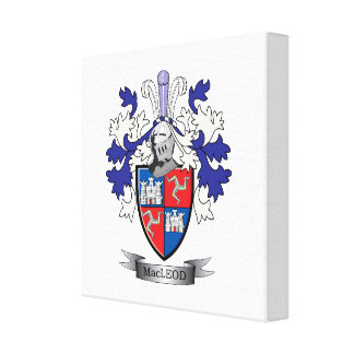 MacLeod Family Crest Coat of Arms Canvas Print