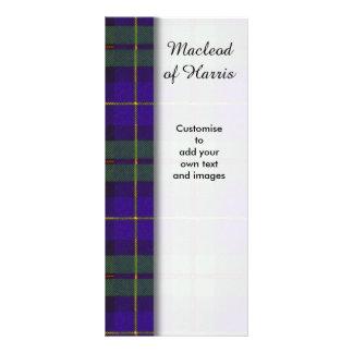 Macleod of Harris clan Plaid Scottish tartan 10 Cm X 23 Cm Rack Card