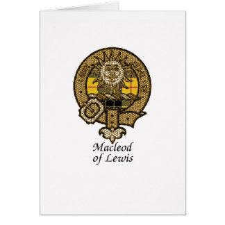 Macleod Of Lewis Clan Crest Card