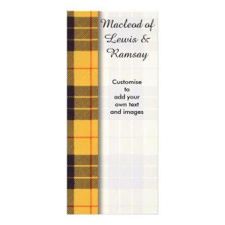 Macleod of Lewis & Ramsay Plaid Scottish tartan Rack Card Template