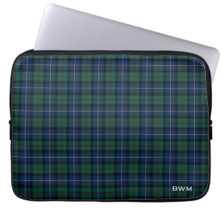 MacLeod of Skye Tartan Scottish Plaid Monogram Laptop Sleeve