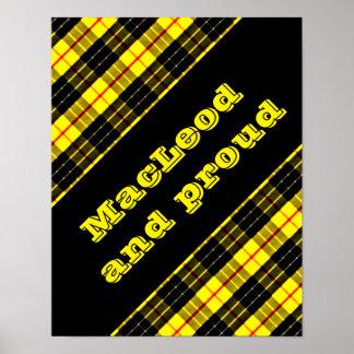 MacLeod Scottish Clan Tartan Poster