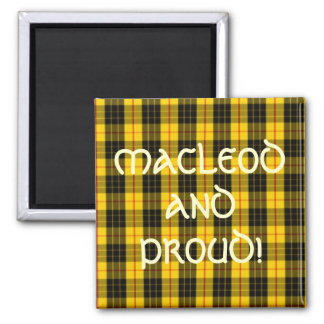 MacLeod Scottish Clan Tartan Square Magnet