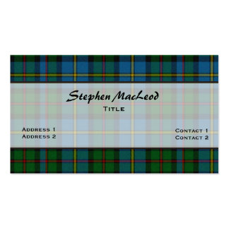 MacLeod Traditional Tartan Plaid Custom Pack Of Standard Business Cards