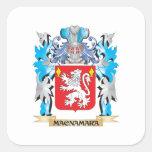 Macnamara Coat of Arms - Family Crest Square Stickers