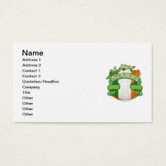 MacNamara Irish Shield Business Card