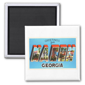 Macon Georgia GA Old Vintage Travel Souvenir Magnet