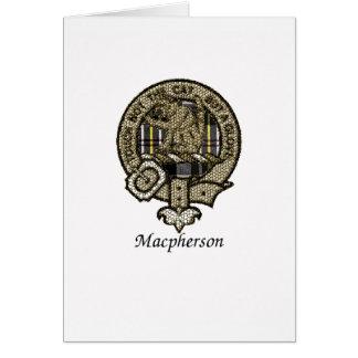 Macpherson Clan Crest Card