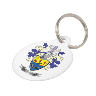 MacPherson Family Crest Coat of Arms Pet ID Tag