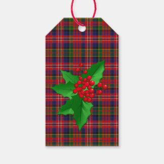 MacPherson Tartan Plaid Christmas Gift Tags