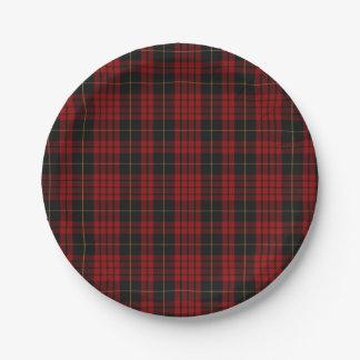 MacQueen Clan Tartan Plaid Paper Plate