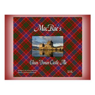 MacRae's Eilean Donan Castle Ale Postcard