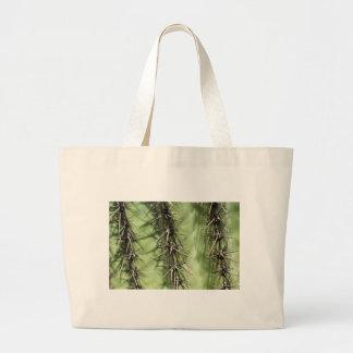 macro close up of cactus thorns large tote bag