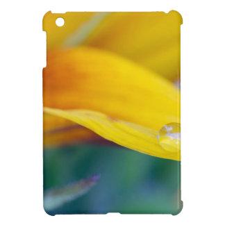 Macro drop on the sunflower petal iPad mini cover