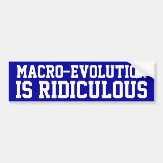 Macro-Evolution Car Bumper Sticker