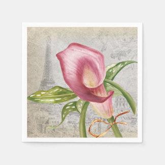 Macro Flower Calla Lily Paper Napkin