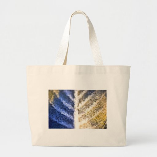 Macro Frosted Leaf Tote Bag