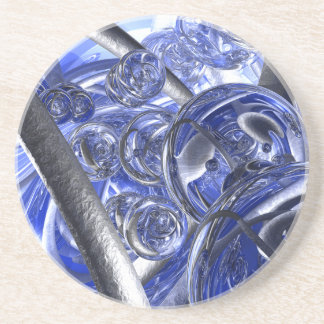 Macro Glass And Steel Bands Coaster