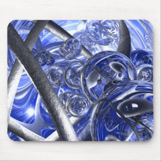 Macro Glass And Steel Bands Mouse Pad
