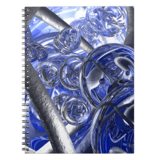 Macro Glass And Steel Bands Spiral Notebook