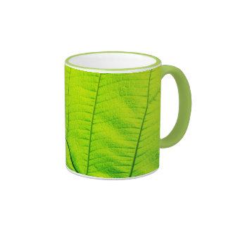 Macro Green Leaf Mug
