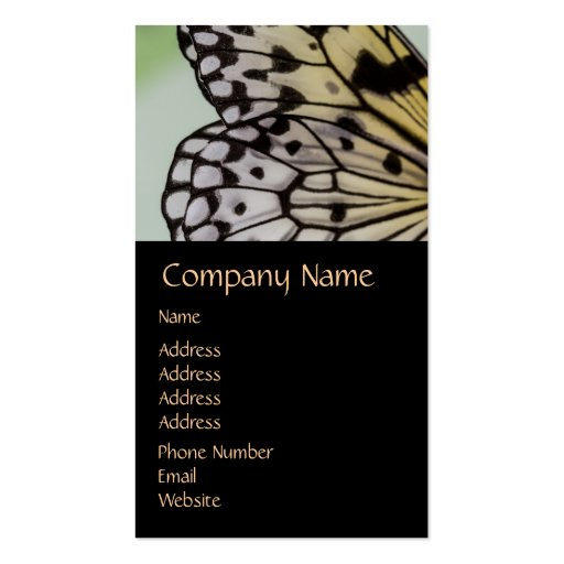 Macro Nymph Butterfly Wing Business Card Template
