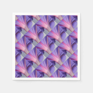 Macro of a Pale Liliac and Pink Morning Glory Disposable Napkin
