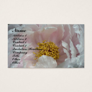 Macro Peony Flower Petals Business Card
