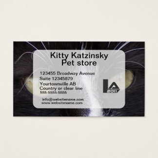 Macro photo Eyes of a cat personal and Business Card