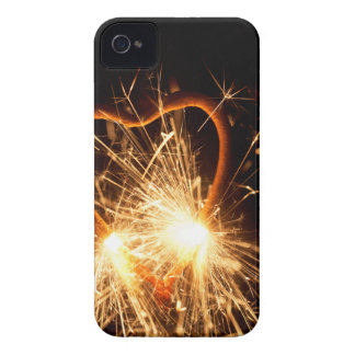 Macro photo of a burning sparkler in form of a hea iPhone 4 cover