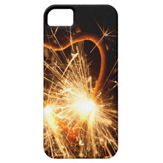 Macro photo of a burning sparkler in form of a hea iPhone 5 cases