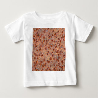 Macro photo of a rusty iron sheet. baby T-Shirt