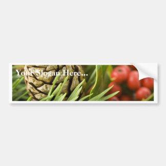 Macro Photo Of Cone On Advent Wreath Bumper Sticker
