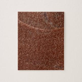 Macro photo of Goldstone glass Jigsaw Puzzle