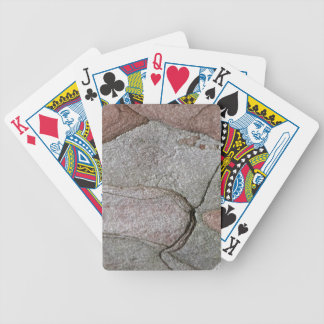 Macro photo of pine bark bicycle playing cards
